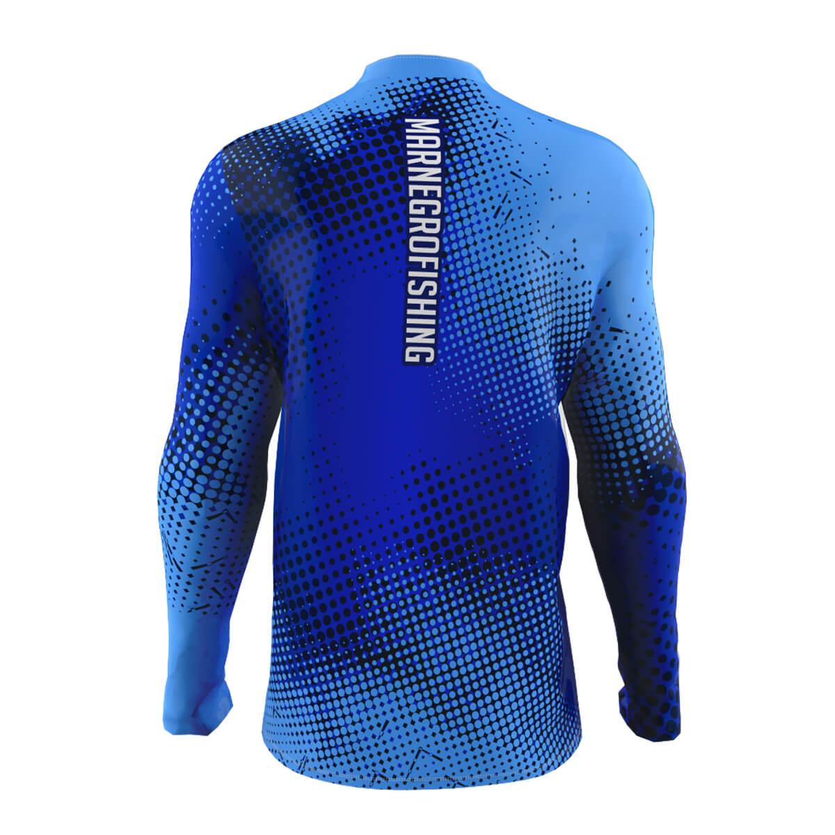 Camiseta de Pesca Mar Negro 2021 Clean Azul  - Pró Pesca Shop