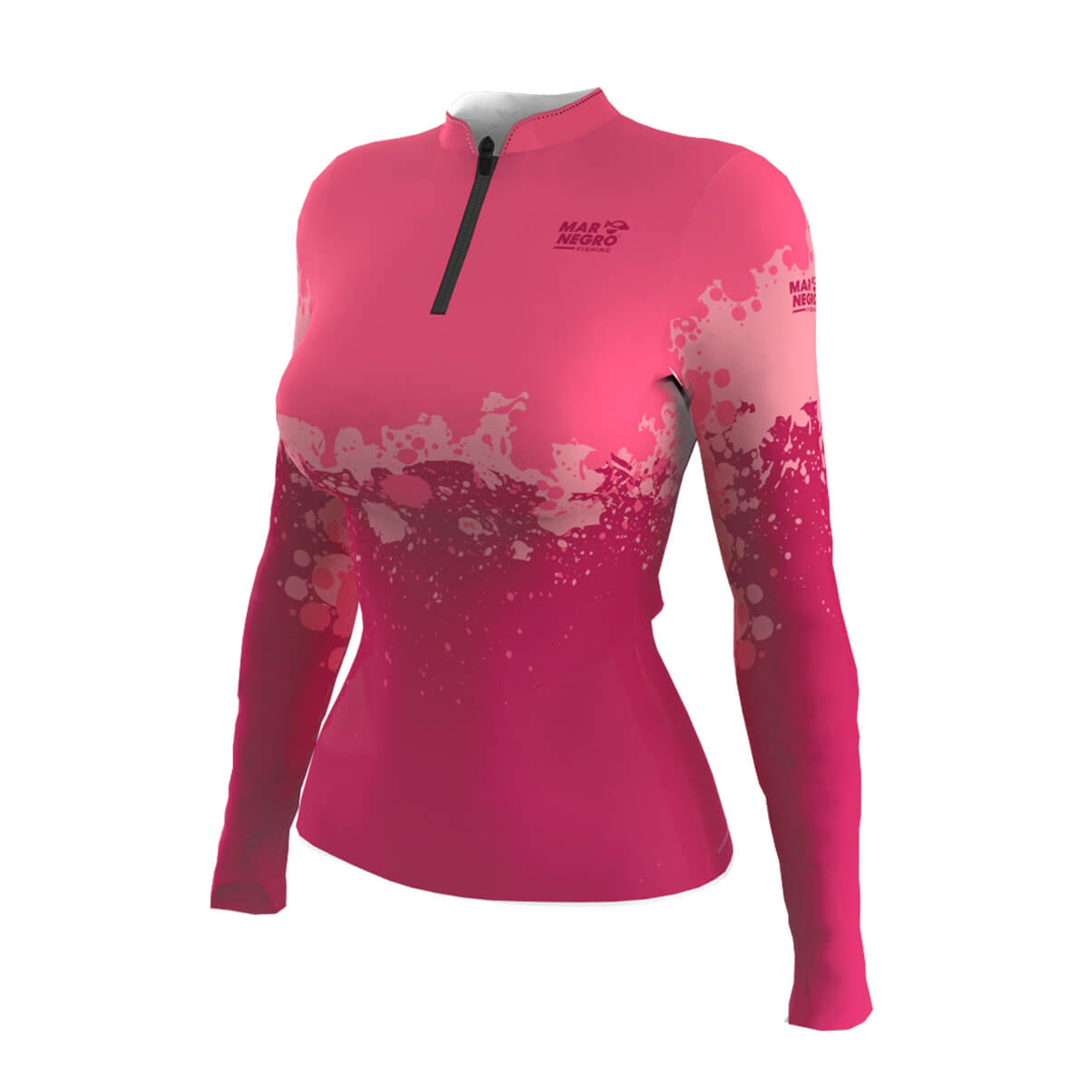 Camiseta Mar Negro Feminina 2021 Clean Rosa  - Pró Pesca Shop