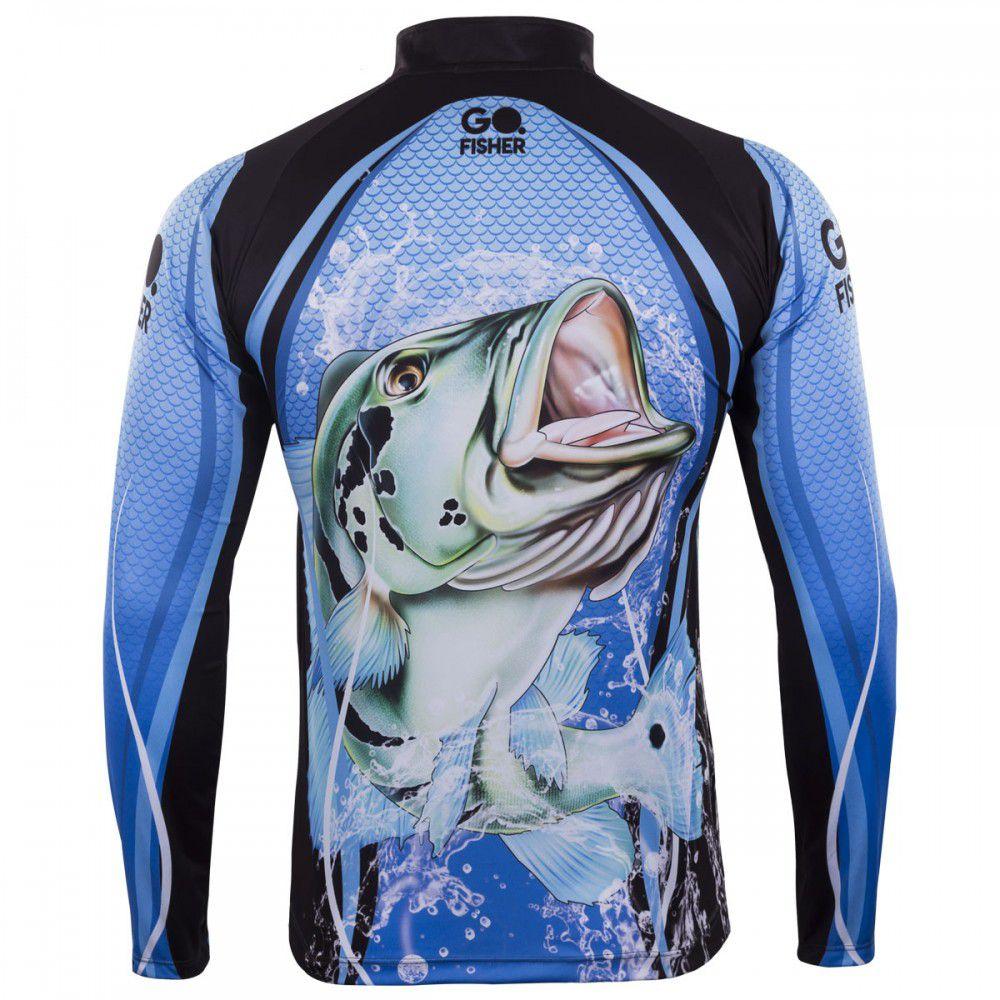 Camiseta Go Fisher Action 01 Tucunaré  - Pró Pesca Shop