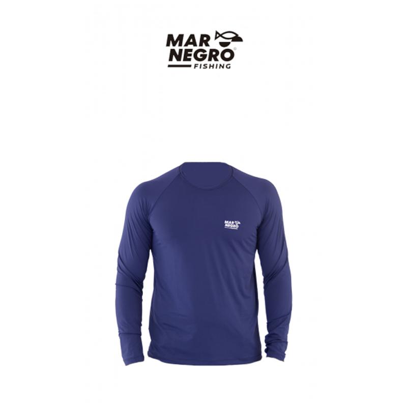 Camiseta Mar Negro 2020 Gola Careca c/ Luva Marinho  - Pró Pesca Shop