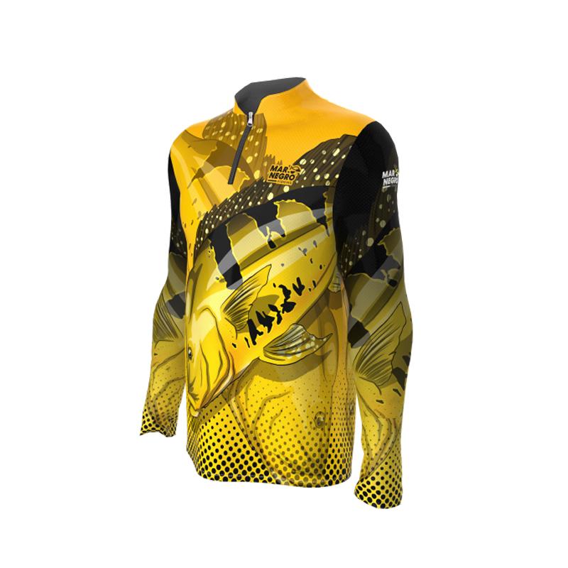 Camiseta Mar Negro 2020 Tucunaré Amarelo G2  - Pró Pesca Shop