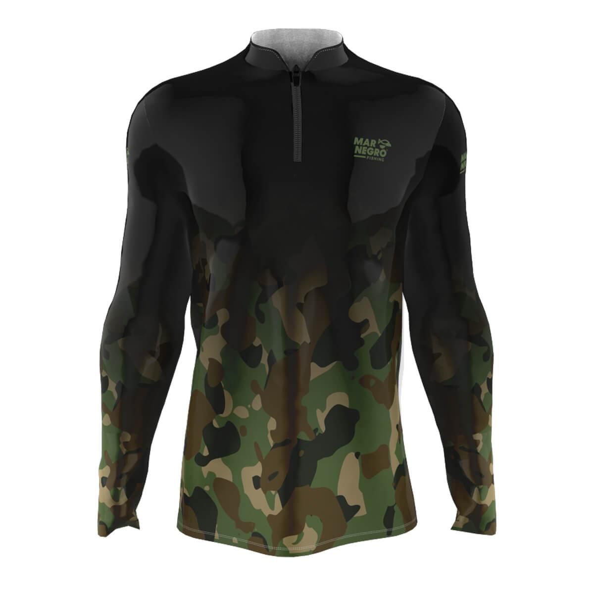 Camiseta Mar Negro 2021 Camuflado Degradê  - Pró Pesca Shop