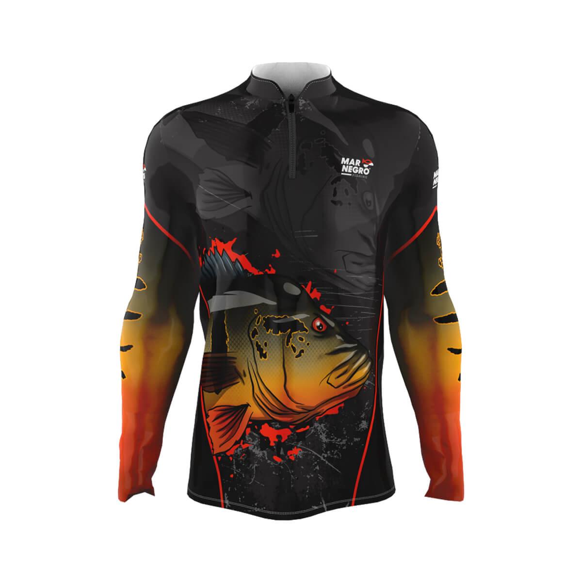 Camiseta Mar Negro 2021 Infantil Tucunaré Açu  - Pró Pesca Shop