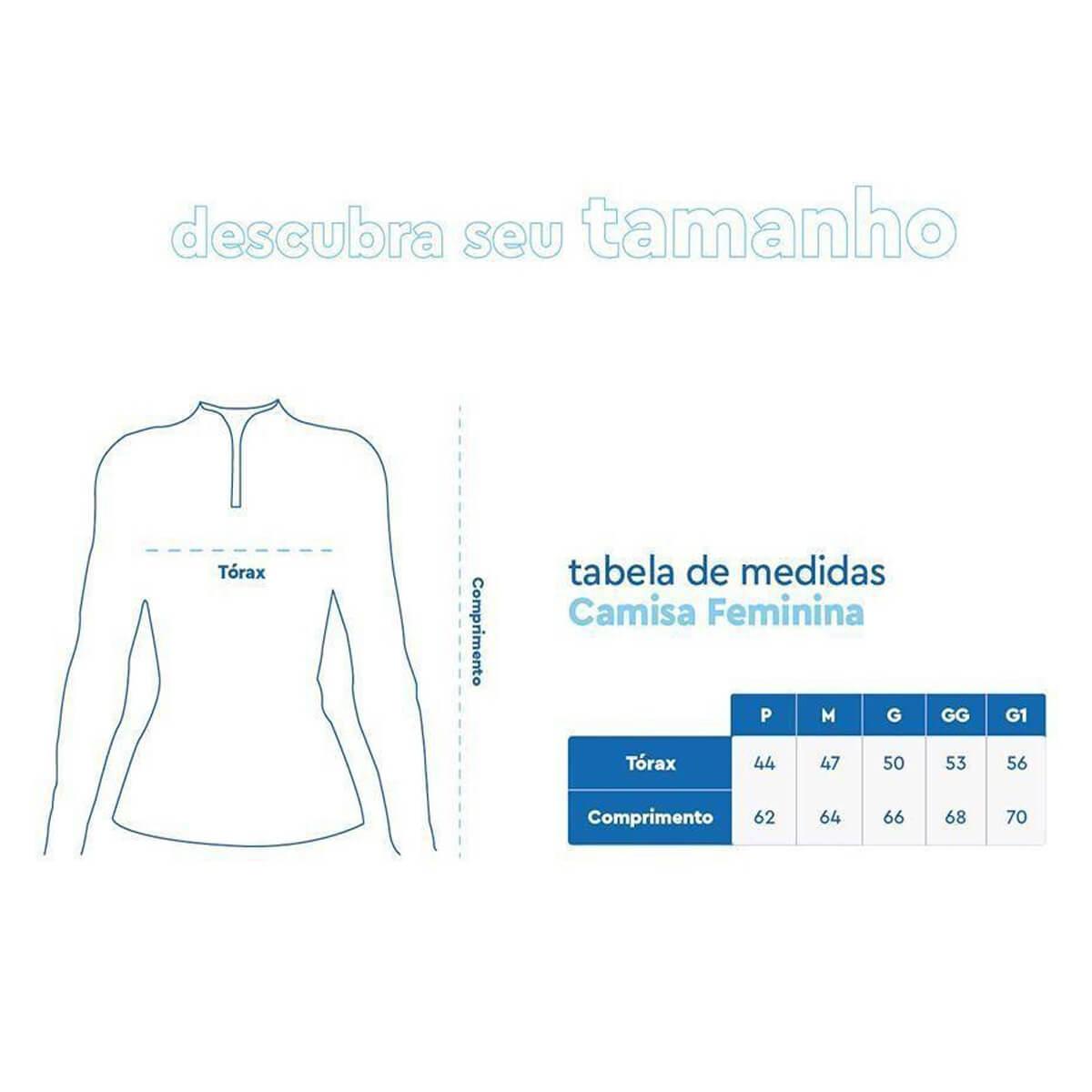 Camiseta Mar Negro Feminina 2021 Tucunaré Azul  - Pró Pesca Shop
