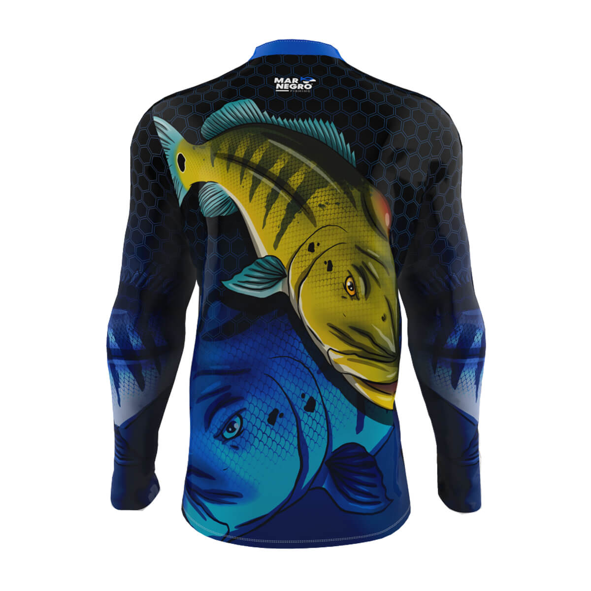 Camiseta Mar Negro Infantil 2021 Tucunaré Azul 01  - Pró Pesca Shop