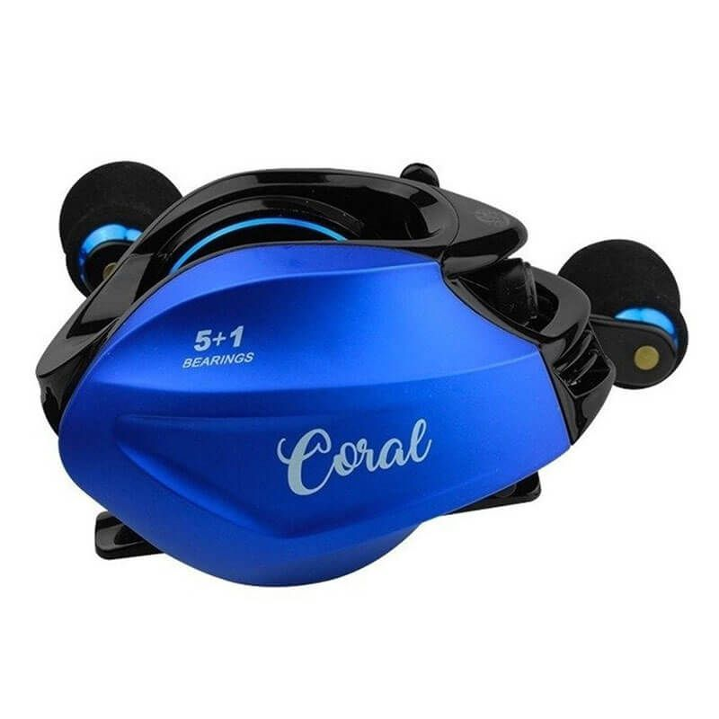 Carretilha Albatroz Coral Blue (Esquerda)  - Pró Pesca Shop