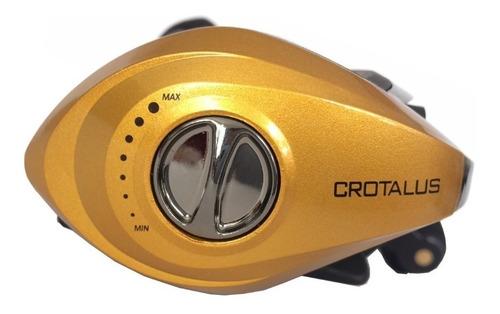 Carretilha Albatroz Crotalus Slim Gold (Esquerda)  - Pró Pesca Shop
