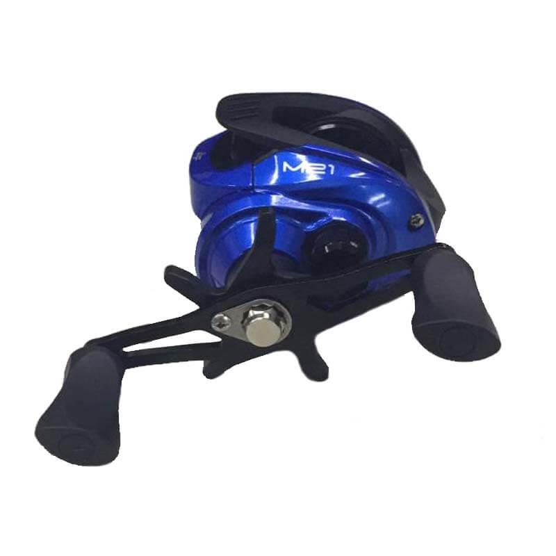 Carretilha Albatroz M21 Slim Azul (Esquerda)  - Pró Pesca Shop