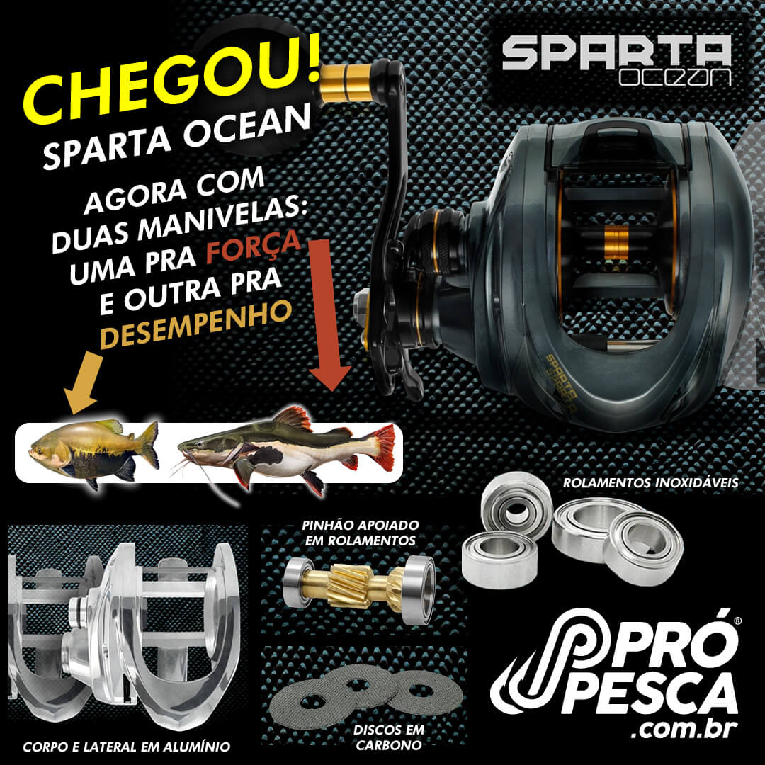 Carretilha Saint Sparta Ocean  - Pró Pesca Shop