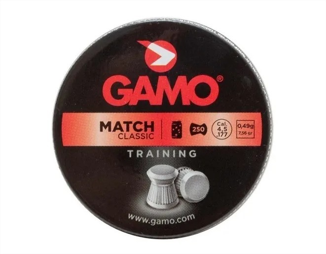 Chumbinho Gamo Match Classic Training 4.5 mm (250 un)  - Pró Pesca Shop
