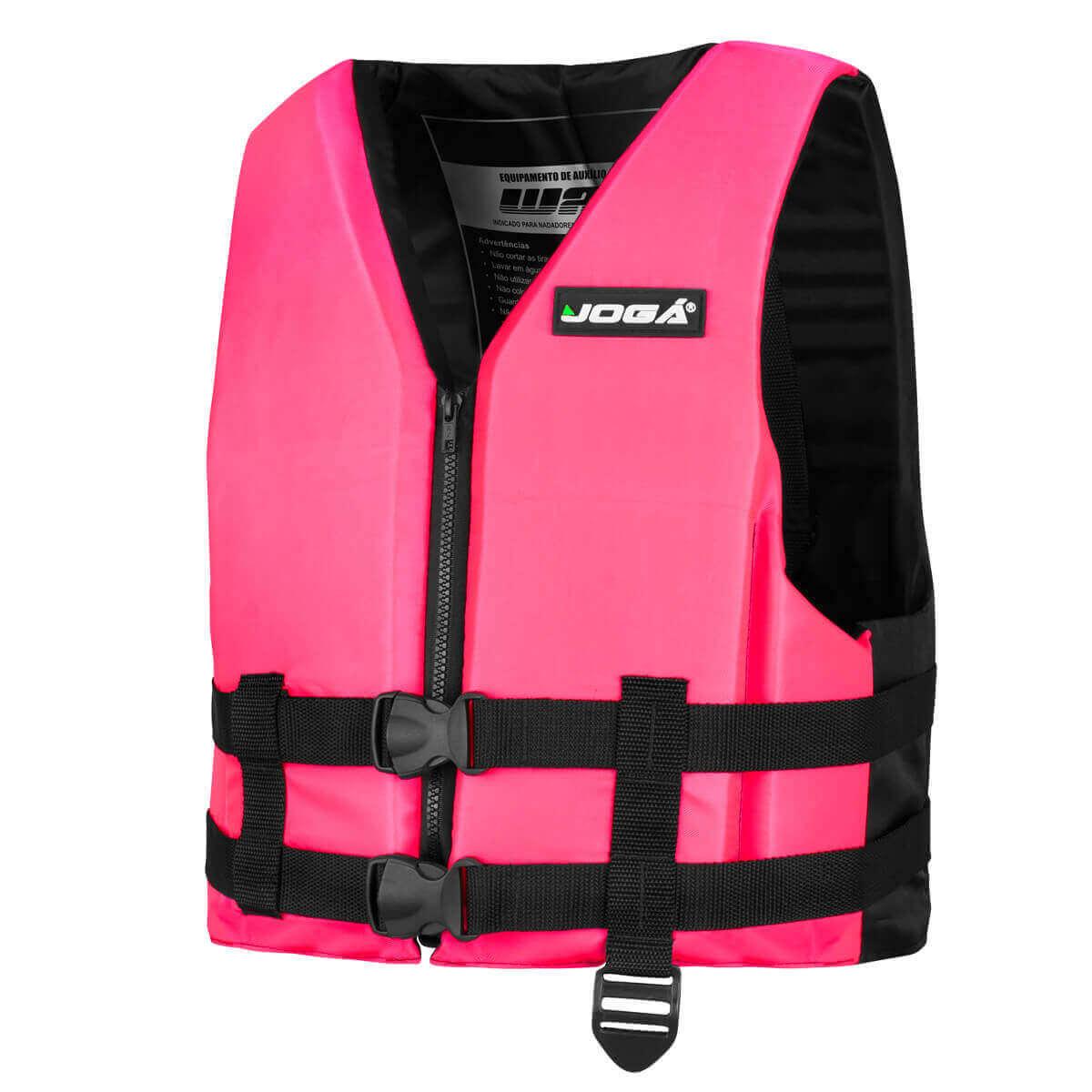Colete Salva Vidas Jogá Wave 70Kg Rosa  - Pró Pesca Shop