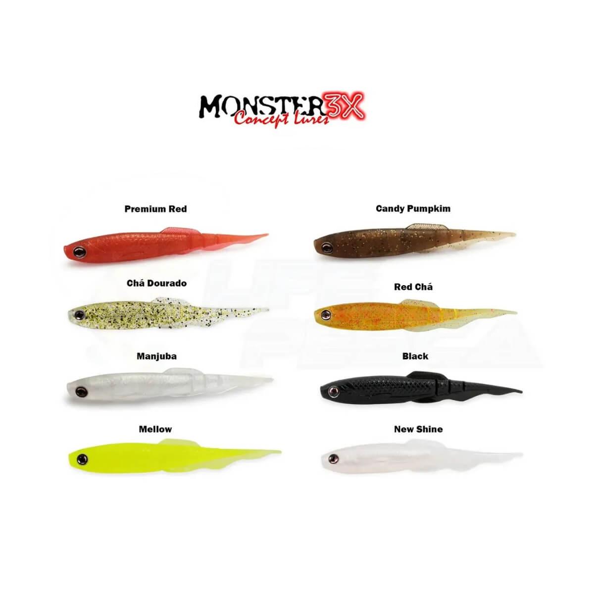 Isca Artificial Soft Monster 3X Bacashad 13cm  - Pró Pesca Shop