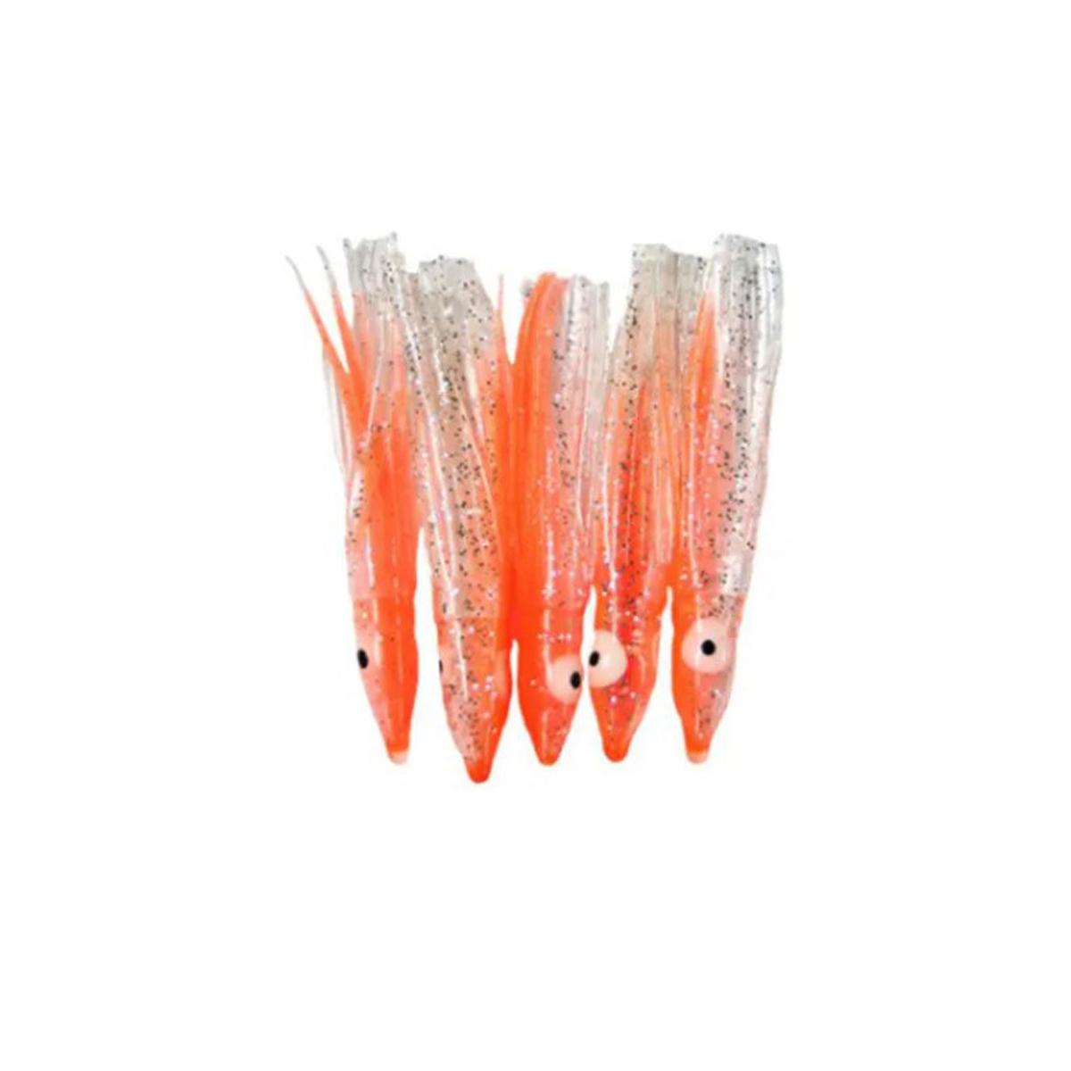 Kit 80 Lulinhas Kalmar 3,8 cm (Laranja)  - Pró Pesca Shop