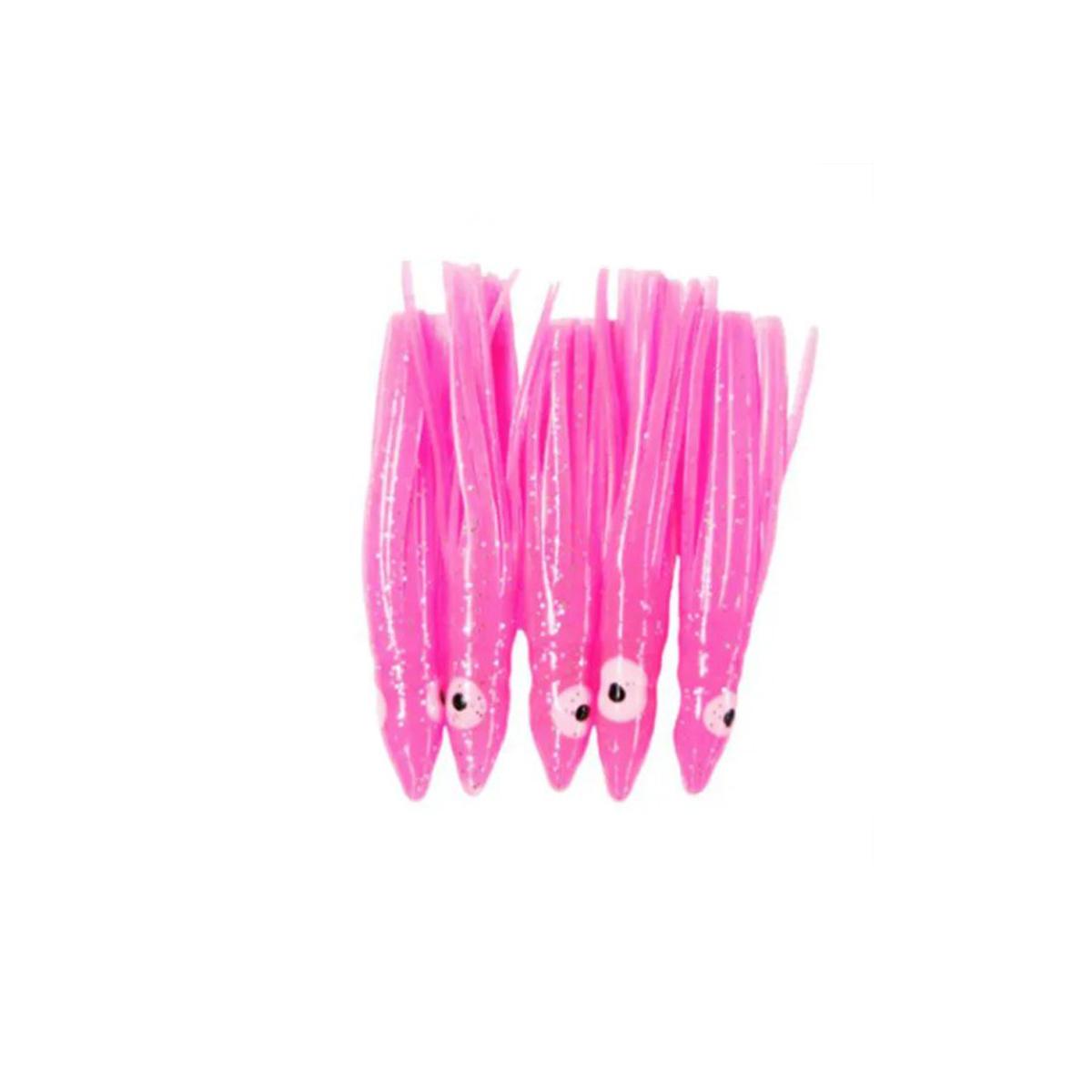 Kit 15 Lulinhas Kalmar 9 cm (Rosa)  - Pró Pesca Shop