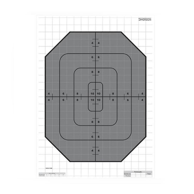 Kit 20 Alvos de Papel para Tiro e Treino Shotgun  - Pró Pesca Shop