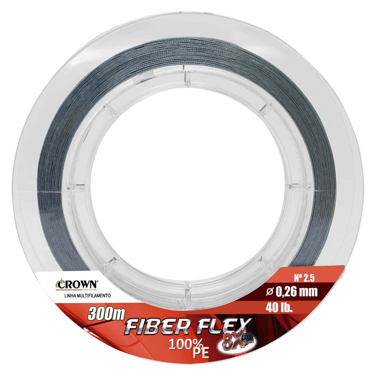 Linha Crown Multi Fiber Flex 8x 300m Cinza  - Pró Pesca Shop