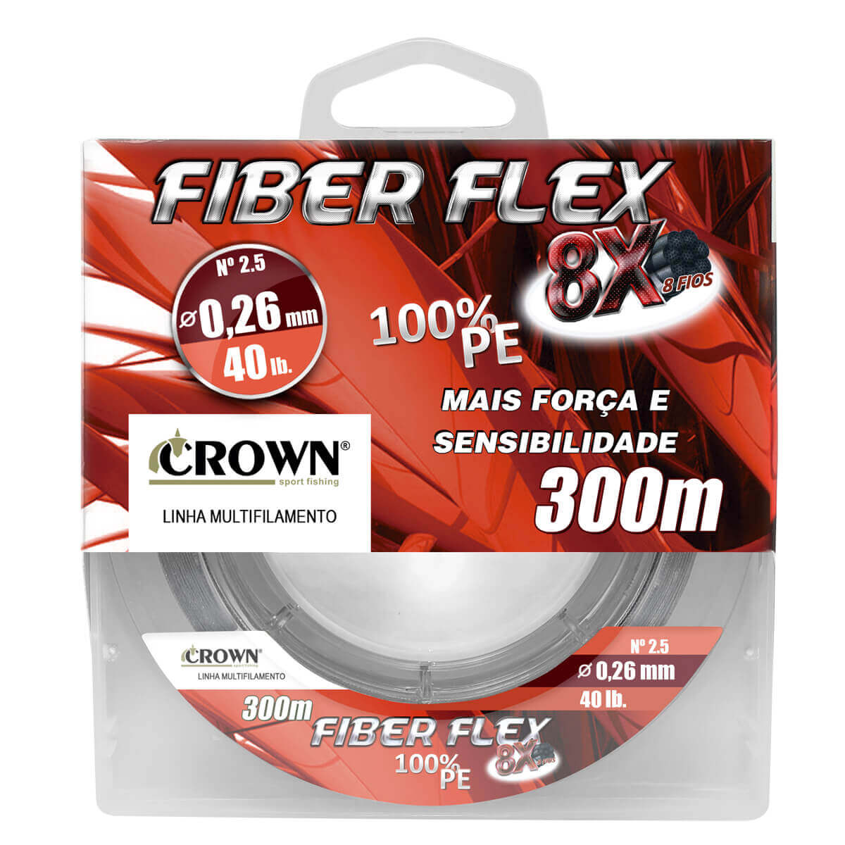 Linha Crown Multifilamento Fiber Flex 8x 100 m Cinza  - Pró Pesca Shop