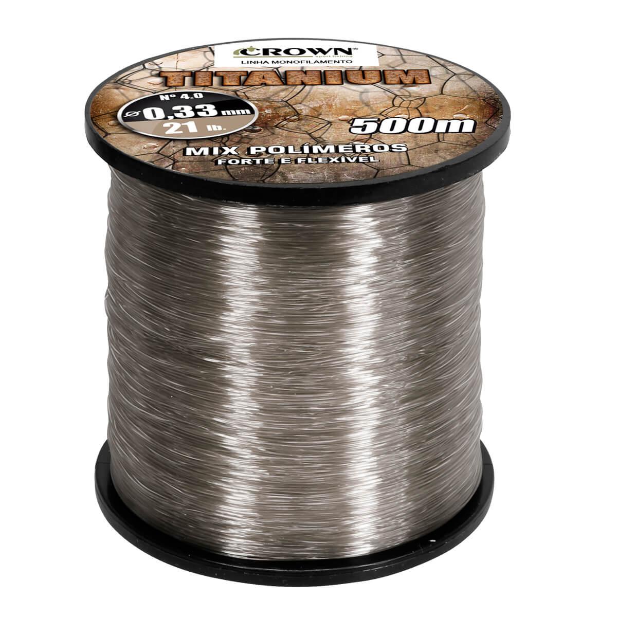 Linha Crown Titanium 500 m  - Pró Pesca Shop