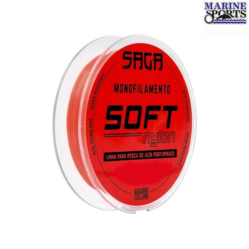 Linha Marine Sports Saga Soft Orange 0,37 mm 300 m