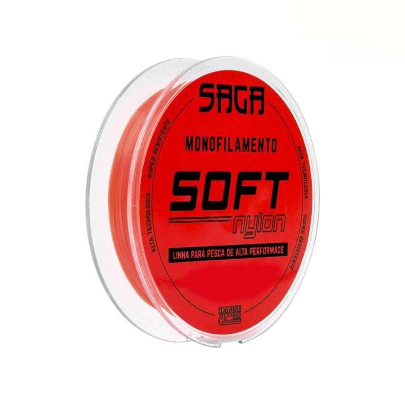 Linha Marine Sports Saga Soft Orange 0,37 mm (300 m)  - Pró Pesca Shop