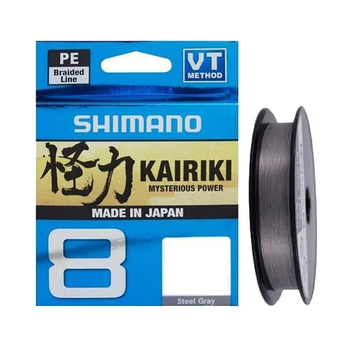 Linha Multifilamento Shimano Kairiki 8 Pe 150 m Cinza  - Pró Pesca Shop