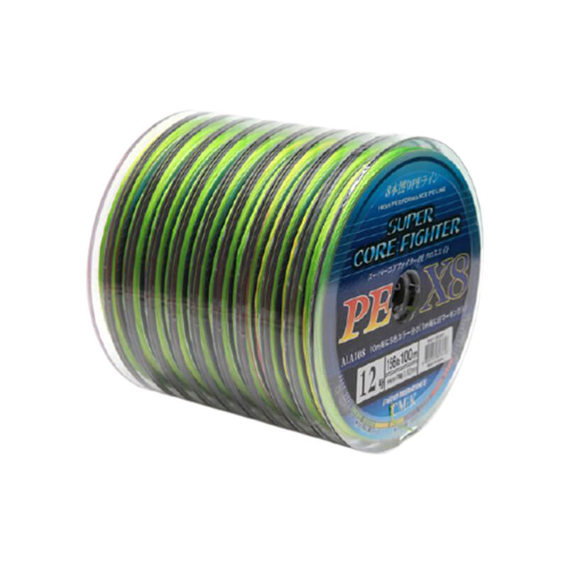 Linha Multifilamento Super Core Fighter X8 Colors (100 Metros)  - Pró Pesca Shop