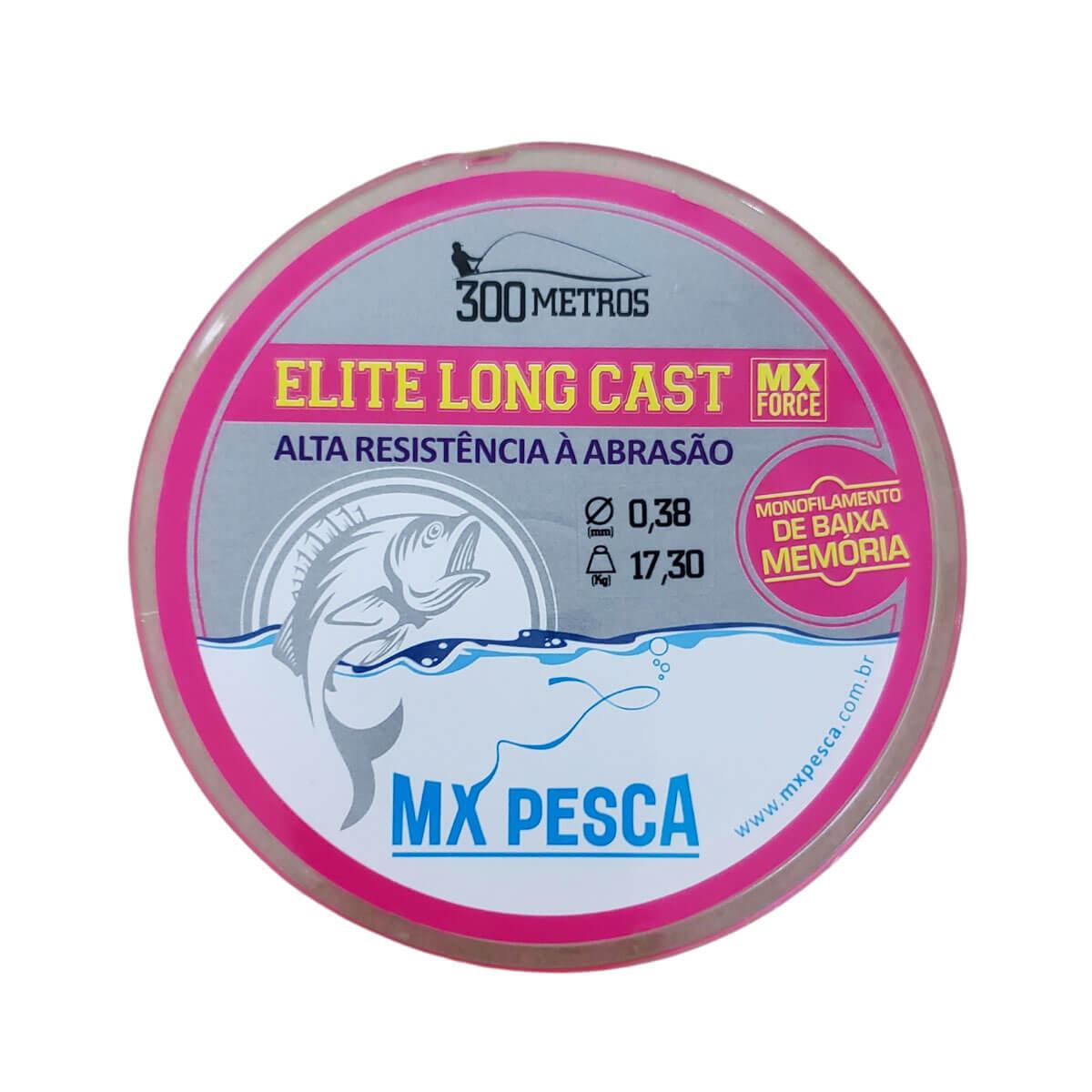 Linha Mx Pesca Elite Long Cast Rosa 300 m  - Pró Pesca Shop