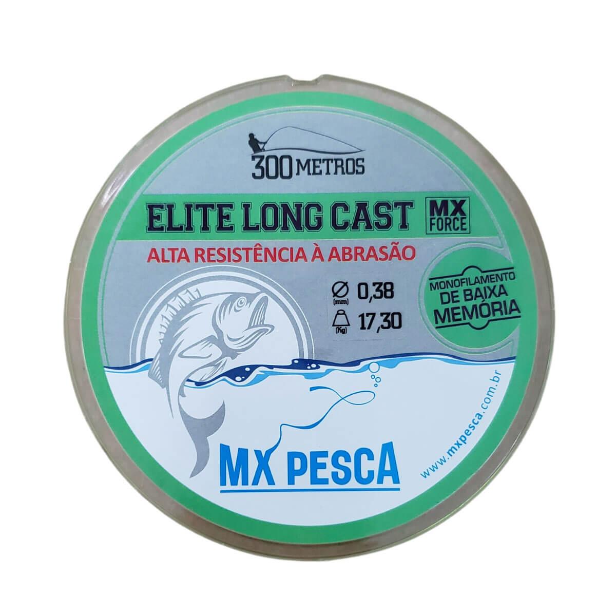 Linha Mx Pesca Elite Long Cast Verde 300 m  - Pró Pesca Shop