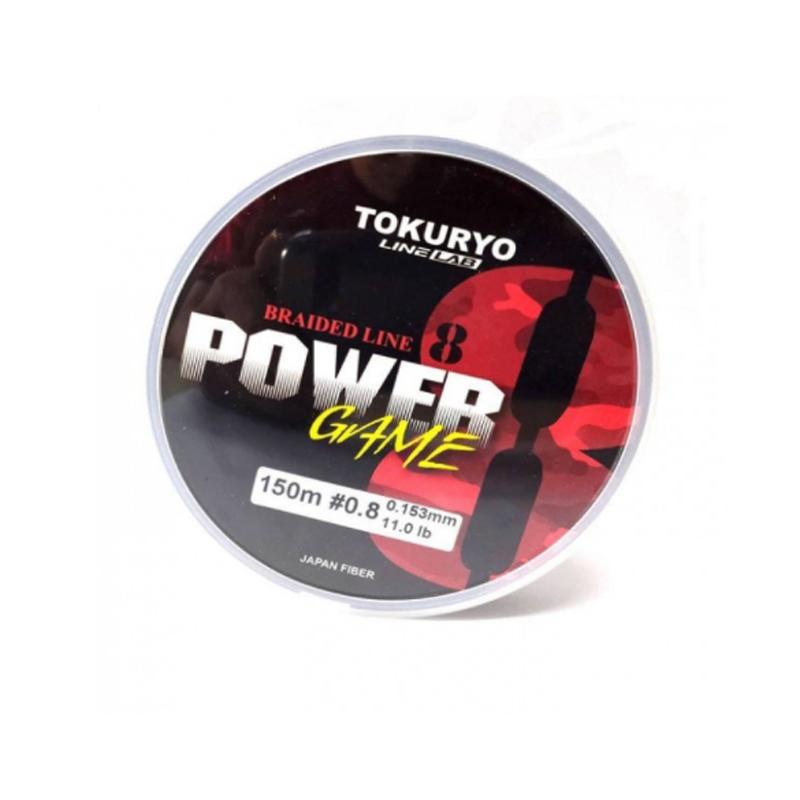 Linha Multifilamento Tokuryo Power Game X8 Multicolor 150 m