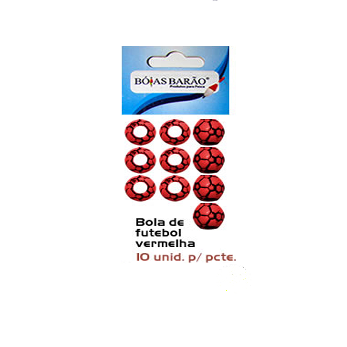 Miçangas Bóias Barão 10 Unidades  - Pró Pesca Shop