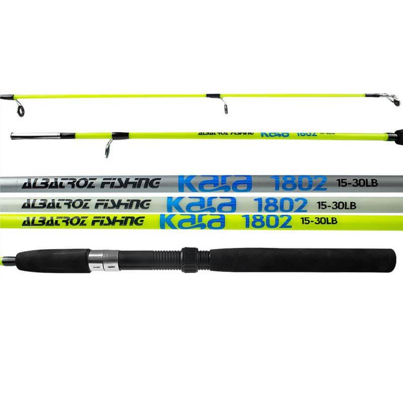 Vara Albatroz Kara p/ Molinete 1,35 m 12 lbs (2 Partes)  - Pró Pesca Shop
