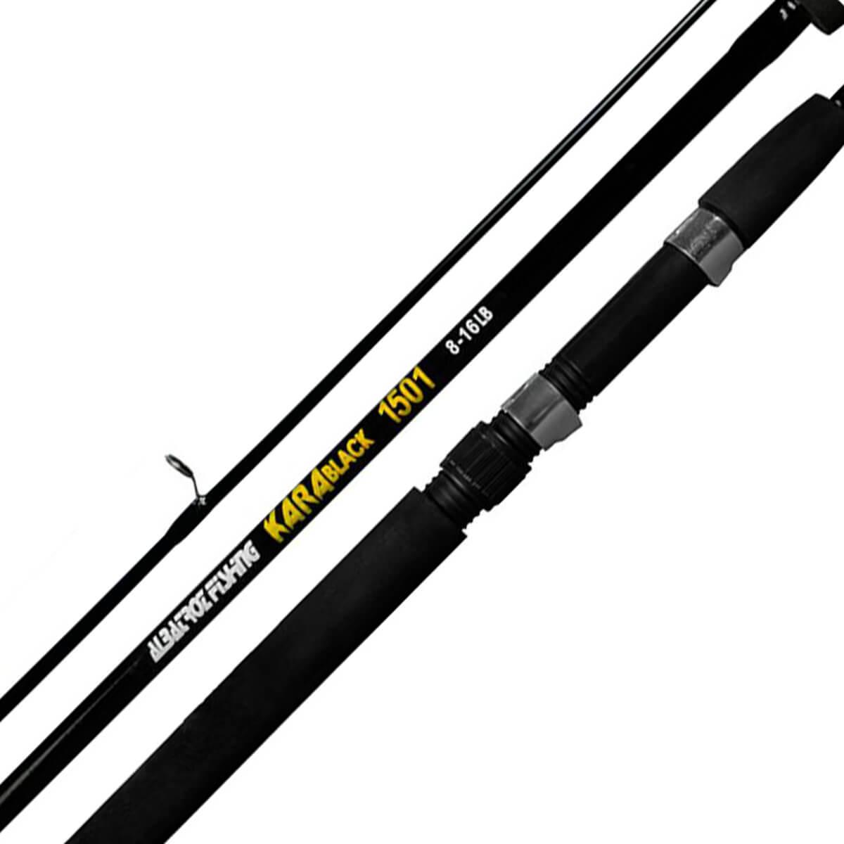 Vara Albatroz Kara Black p/ Molinete 1,50 m 16 Lbs (2 partes)  - Pró Pesca Shop
