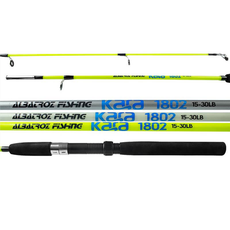 Vara Albatroz Kara p/ Molinete 1,50 m 20 lbs (2 Partes)  - Pró Pesca Shop