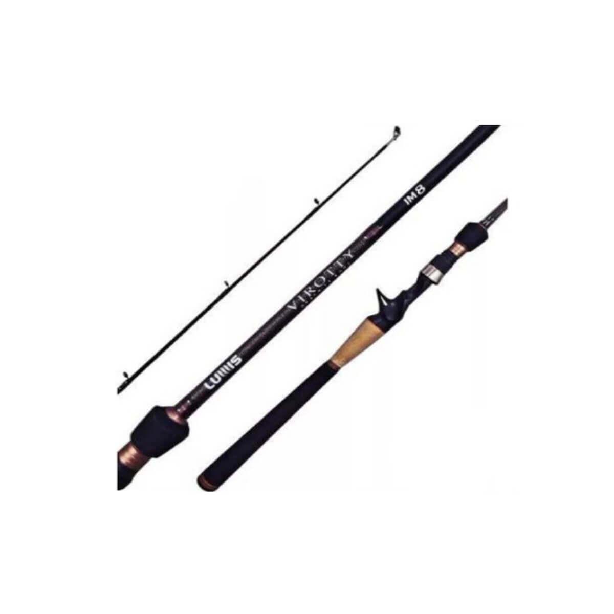 Vara Lumis Virotty p/ Carretilha 2,40 m 50 lbs (2 partes)  - Pró Pesca Shop