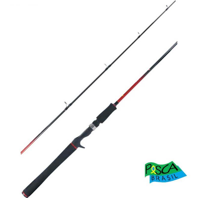 """Vara p/ Carretilha Pesca Brasil Impacto 6'6"""" 30 lbs (2p)"""