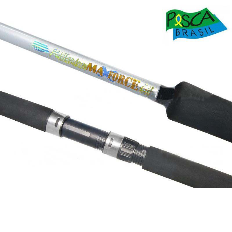 Vara Pesca Brasil Max Force p/ Carretilha 1,63 m 50 lbs (Inteiriça)