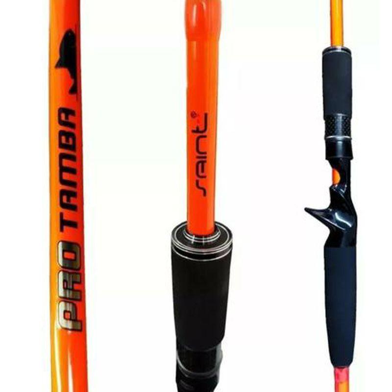Vara Saint Pro Tamba Orange P/ Carretilha 2,40 m 50 lbs (2 partes)  - Pró Pesca Shop