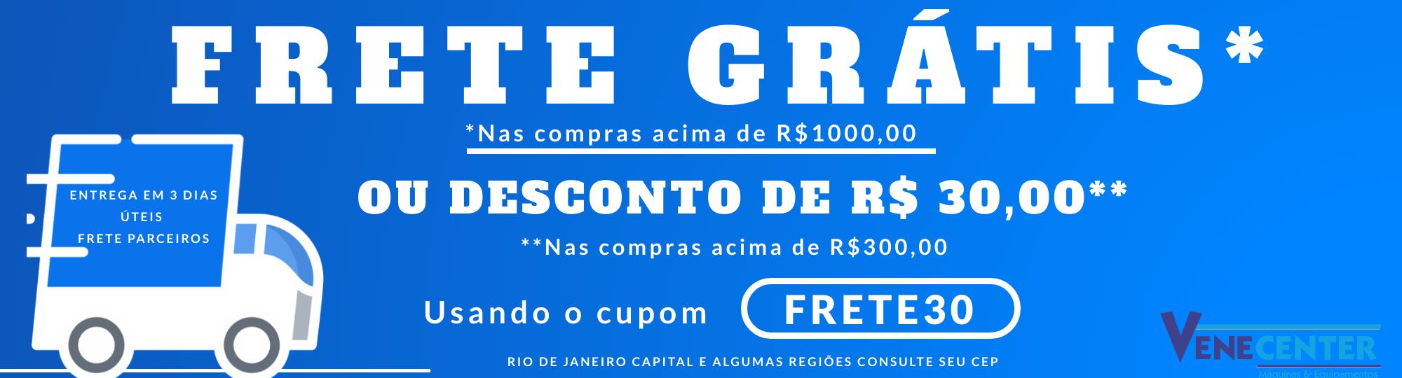Frete grátis Rio de janeiro capital e algumas cidades do RJ