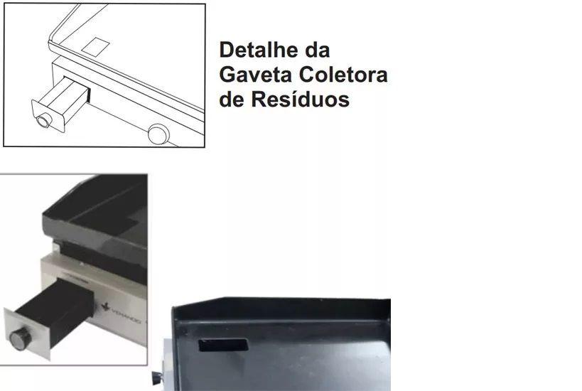 CHAPA BIFETEIRA ELETRICA  80X50CM 220V CE80