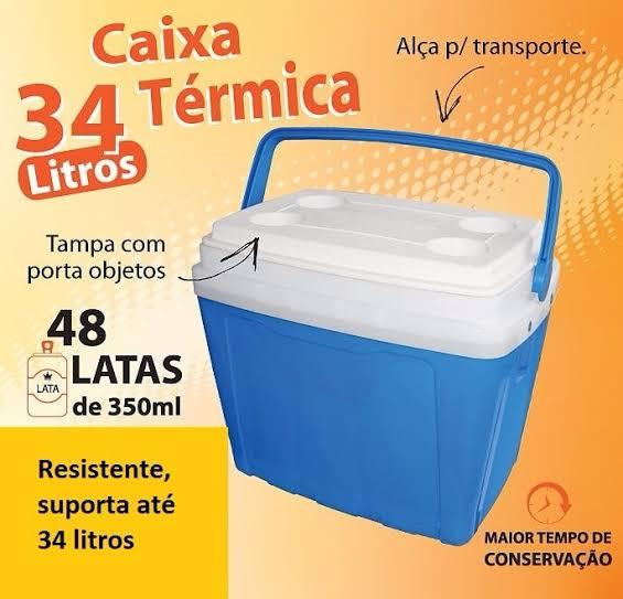 CAIXA TERMICA 34L AZUL