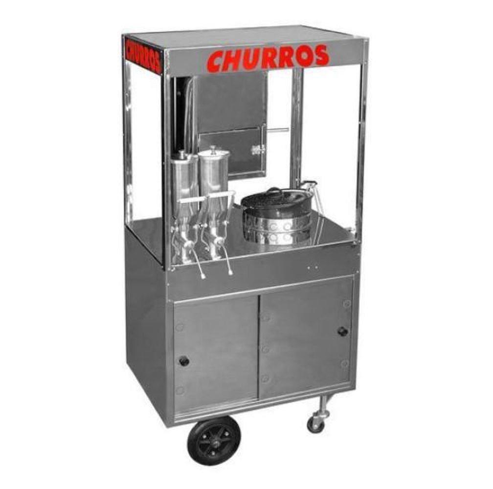 CARRINHO CHURROS 2 DOCEIRAS INOX CHU22
