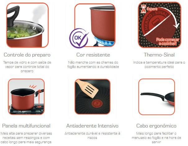 CONJUNTO PANELA 6 PÇS CREATIVE FRIG./PANELA 14.16.20/CACAROLA/P.PRESSAO 4,5L 9295304644