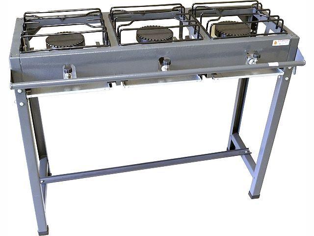 Fogão Semi Industrial 3 Bocas Alta Pressão Grande Alto Luxo 501091 - Roa