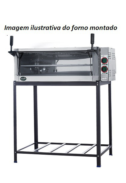 FORNO ELÉTRICO 55X60 220V GUILHOTINA PE2S