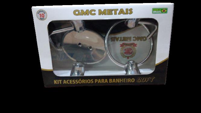 KIT BANHEIRO 04PCS INOX - GMC