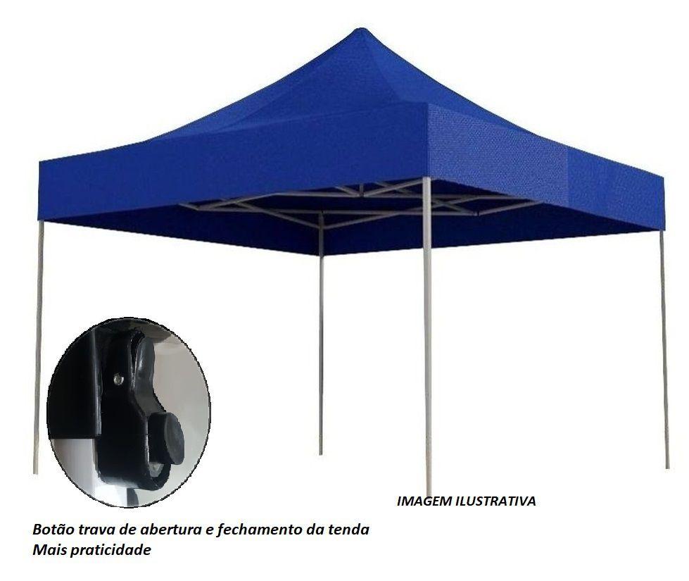 TENDA ARTICULAVEL (SANFONADA) REFORÇADA LUXO 3X3M ARTICULAVEL AZ 8071 V&M