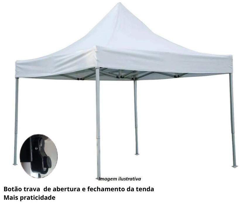 TENDA ARTICULAVEL (SANFONADA) REFORÇADA LUXO 3X3M  BR 8070 V&M - V&M