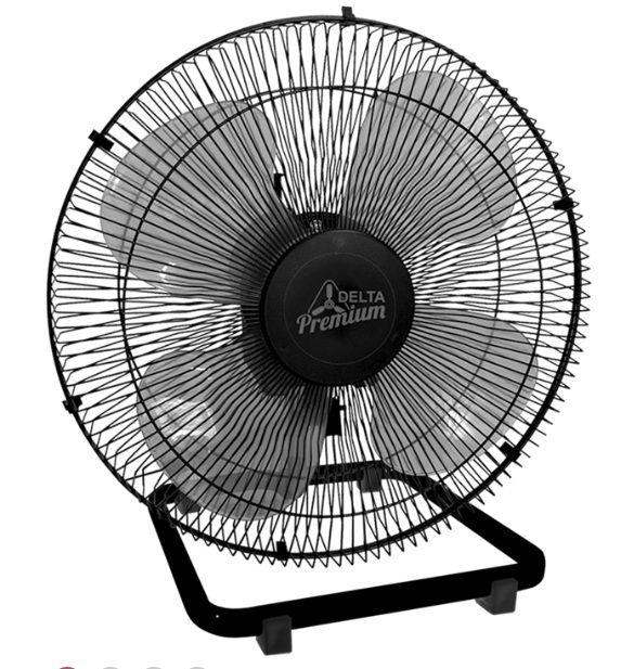 Ventilador Mesa 50Cm 170W 4 Pas Premium Preto Bivolt 705412 - Venti-Delta