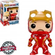 Funko Pop Marvel Capitão América Guerra Civil Iron Man 136 Sem Máscara
