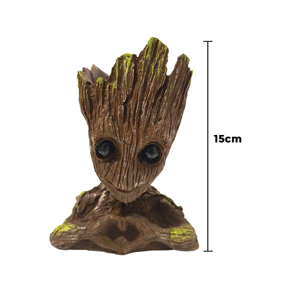 Baby Groot Vaso Porta Objetos Resina 15 Cm Diversos Modelos